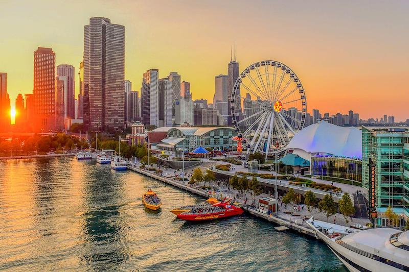 Pontos turísticos em Chicago