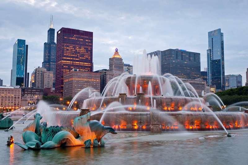 Melhores parques em Chicago: Buckingham Fountain no Grant Park
