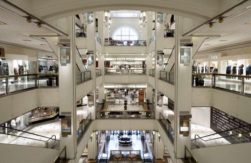 Shoppings em Chicago: interior do The Shops at North Bridge