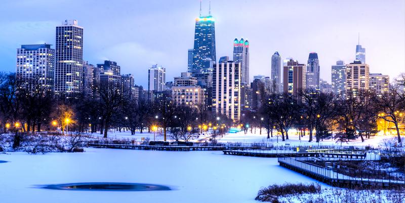 Natal em Chicago: inverno