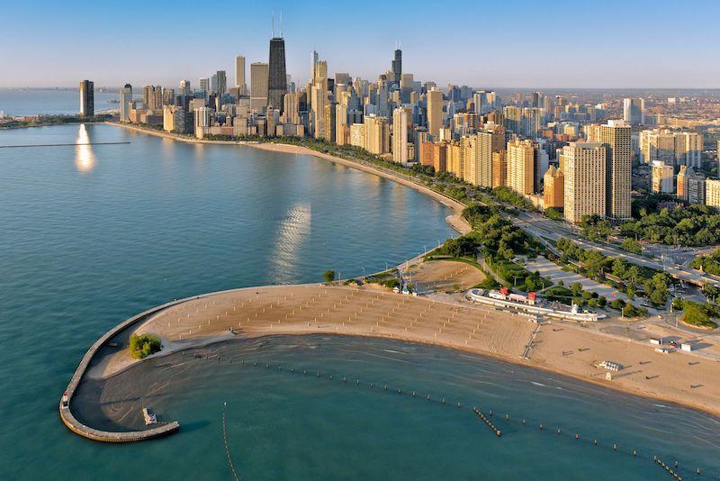 Pontos turísticos em Chicago: praia North Avenue Beach