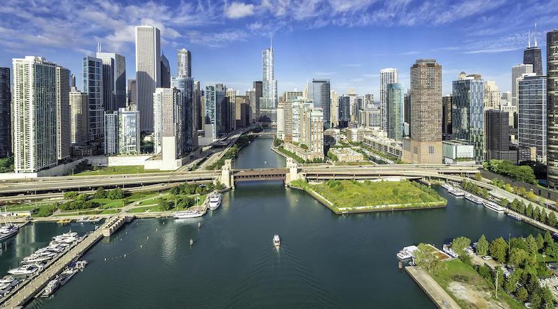 Pontos turísticos em Chicago: Chicago River