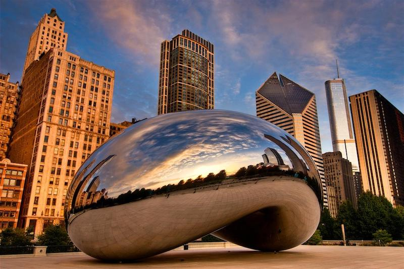 Millennium Park em Chicago: Cloud Gate - The Bean