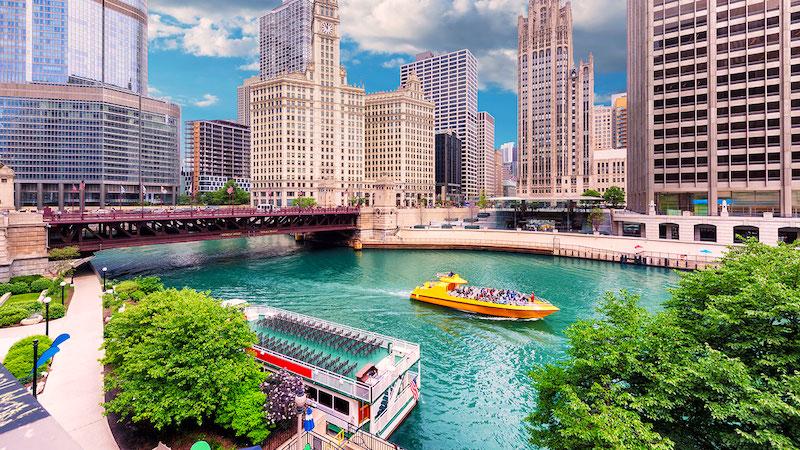 Fuso horário de Chicago x Brasil: horário de verão