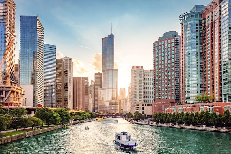 Clima e temperatura em Chicago: verão