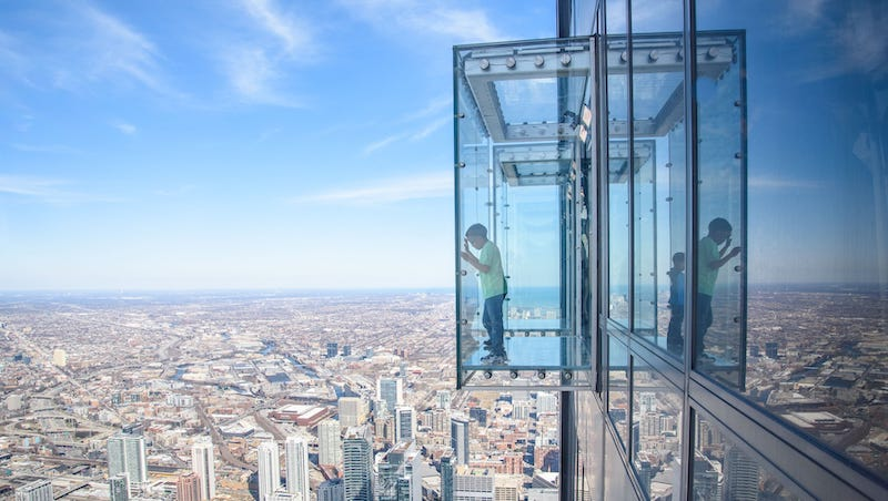 Skydeck 360 na Willis Tower em Chicago