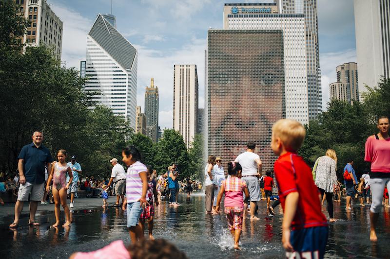O que fazer com crianças em Chicago: Crown Fountain
