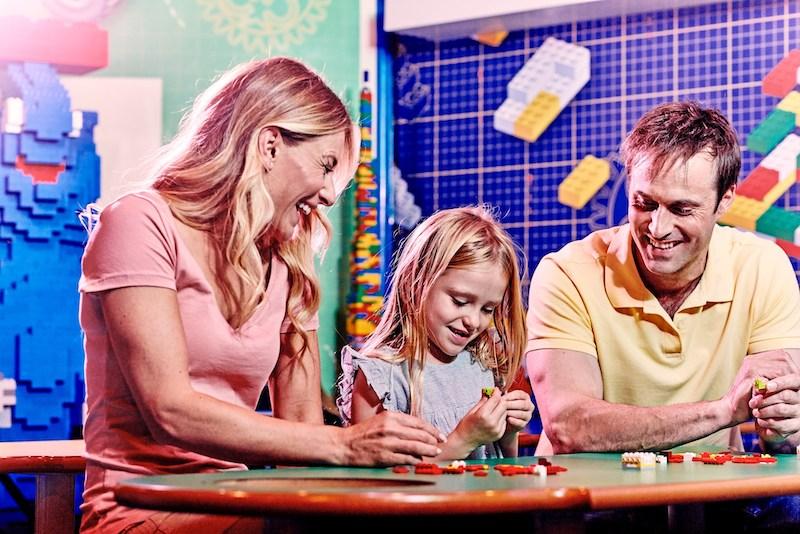 O que fazer com crianças em Chicago: família no Legoland Discovery Center