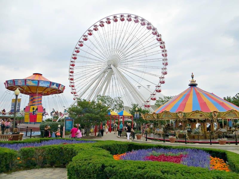 Navy Pier em Chicago: parque de diversões