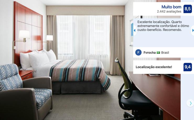 Hotéis bons e baratos em Chicago: quarto do hotel Central Loop