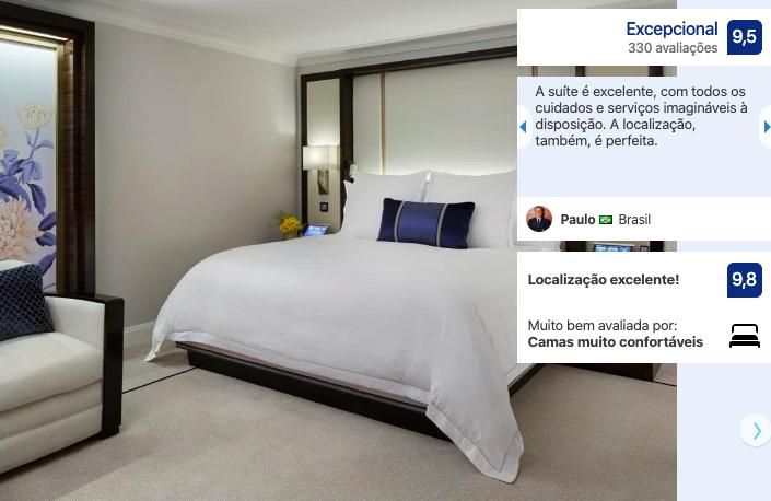 Melhores hotéis em Chicago: quarto do hotel The Peninsula