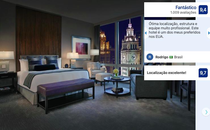 Melhores hotéis em Chicago: quarto do hotel Trump International