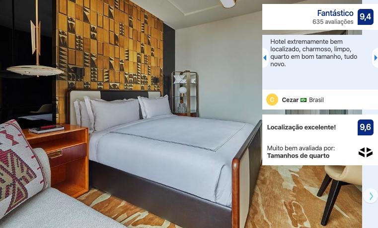 Melhores hotéis em Chicago: quarto do hotel Viceroy