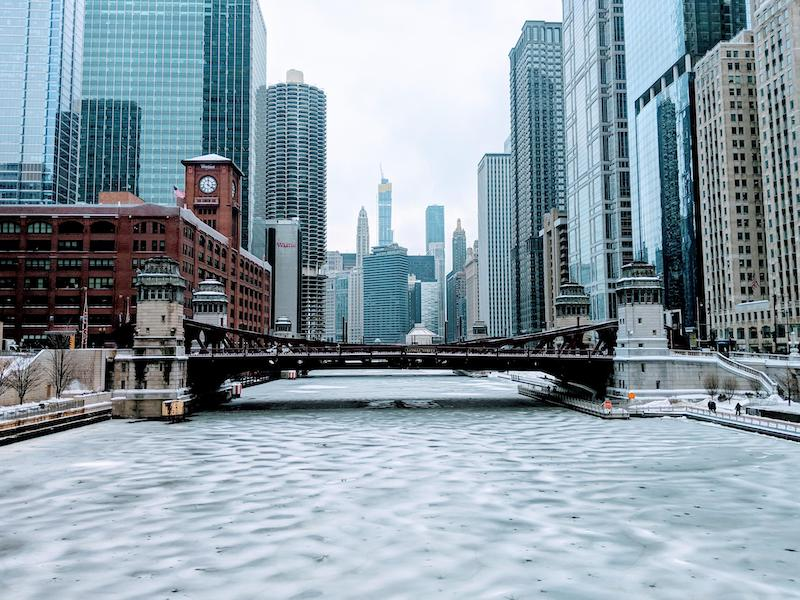 Chicago River: inverno