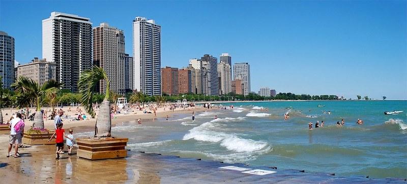Melhores praias em Chicago: praia Oak Street Beach